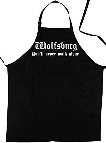 ShirtShop-Saar Wolfsburg - You'll Never Walk Alone; Grillschürze; schwarz