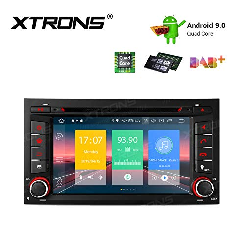 "XTRONS 7\"" Android 9.0 Quad Core Autoradio 2GB RAM 16GB ROM mit Touchscreen Multimedia Player Plug und Play Autostereo unterstützt 4G WiFi Bluetooth DAB & OBD2 TPMS FÜR SEAT Leon"