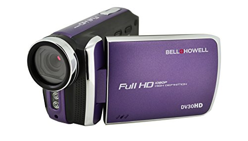 """Bell+Howell DV30HD-P HD Video Camera with 3"""" Touchscreen (Purple)"""