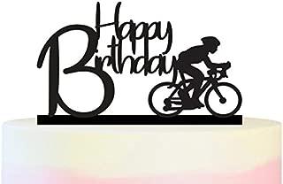 TC0140 Happy Birthday Bicycle Sport Party Wedding Birthday Acrylic Cake Topper Cupcake Toppers Decor Set 11 pcs