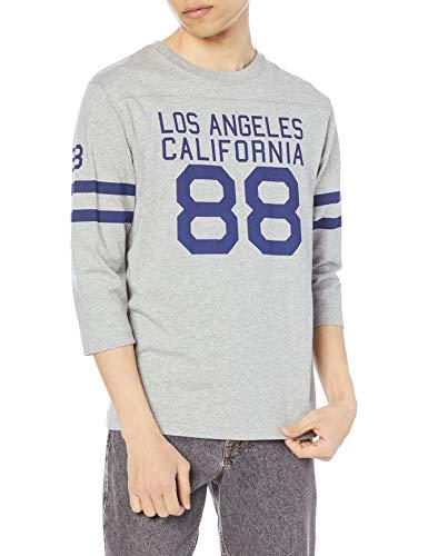 [チャンピオン] 七分袖シャツ 綿100% スクリプトロゴ 3/4スリーブTシャツ ベーシックメンズ C3-T404 オックスフォードグレー L