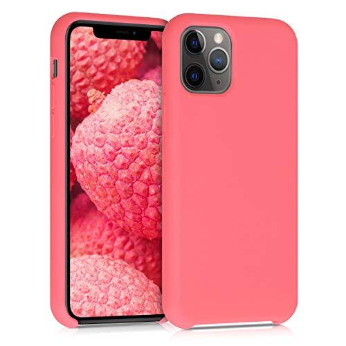kwmobile Hülle kompatibel mit Apple iPhone 11 Pro - Handyhülle gummiert - Handy Case in Neon Koralle