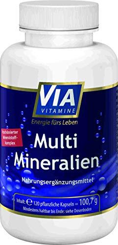 Multi Mineralien 120 vegane Kps, hochdosierter Mineralstoffkomplex, Premiumqualität aus Deutschland