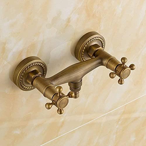TEPET Mezclador de Pared de latón Vintage, Grifo de Ducha, Interruptor de Control de válvula, Grifo de baño