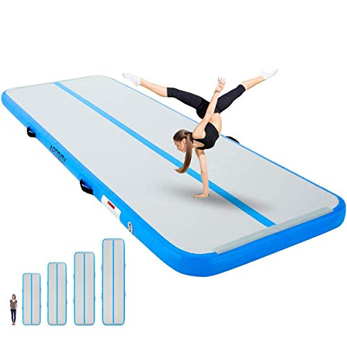 """AECOJOY Air Inflatable Track 10ft/13ft/16ft/20ft Gymnastics Training Mat 4"""" Thickness Tumbling Track Mats for Home Use/Training/Gym/Tumble/Water 16ft*33ft*4in"""