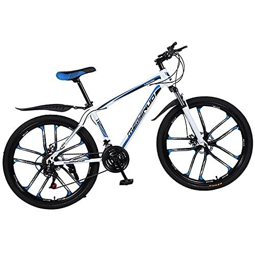 XIAOKUKU Vélo pour Hommes Vélo léger 26 Pouces Frein à Disque Sensible, Cadre en Alliage d'aluminium VTT 21 Vitesses pour Rouler antidérapant et Absorbant Les Chocs,C