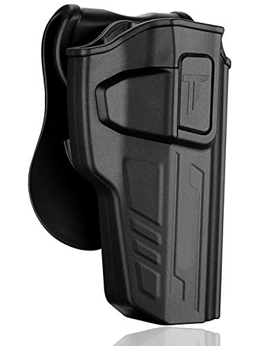 Beretta 92 FS Holsters, Outside The Waistband Carry Belt Holster for Beretta 92 92FS GSG92, Girsan Regard MC, Taurus PT92, Polymer Paddle Holster with 360° Adjustable Cant, Right Handed