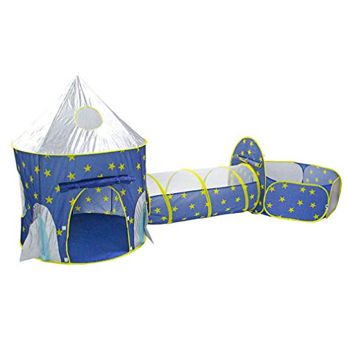 Kinder-Spielzelt, Tunnel-Shot-Bällebad, 3-in-1, zusammenklappbares Spielhaus für Kleinkinder, koordinierte ausgewogene Entwicklung, Indoor Outdoor Spiel Hof