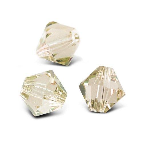Charming Beads Pacco 75+ Taupe Chiaro Cristallo Ceco 4mm Bicono Sfaccettato Perline GB8651-2