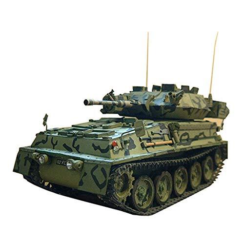JHSHENGSHI Military Paper Puzzle Model Spielzeug, Maßstab 1:25 Vereinigtes Königreich Scorpion Light Tank Kinderspielzeug und Geschenke, 5,1 Zoll x 3,1 Zoll