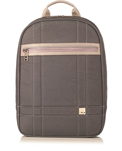 Knomo Bags 53-400-GRE Fargo Coated Canvas Backpack für Notebook bis 35,6 cm (14 Zoll) hellgrau