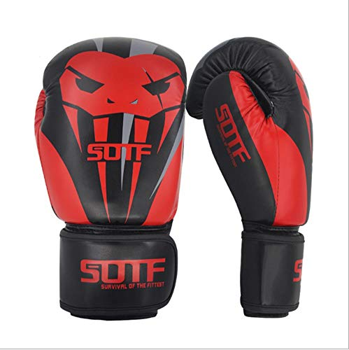 BOZHUO Kinder Boxhandschuhe Fighting Fitness Handschuhe 8Oz 10Oz 12Oz Kampfhandschuhe Heavy Bag Boxhandschuhe,Rot,8oz