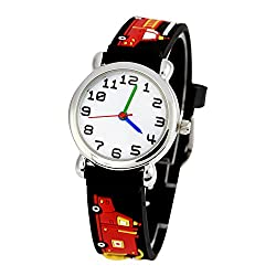 professional Jewtme cute watch for toddlers 3-8 years old analog time teacher 3D silicone strap cartoon…