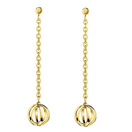 Calvin Klein KJ4XJE100100 Hangende oorbellen voor dames, roestvrij staal
