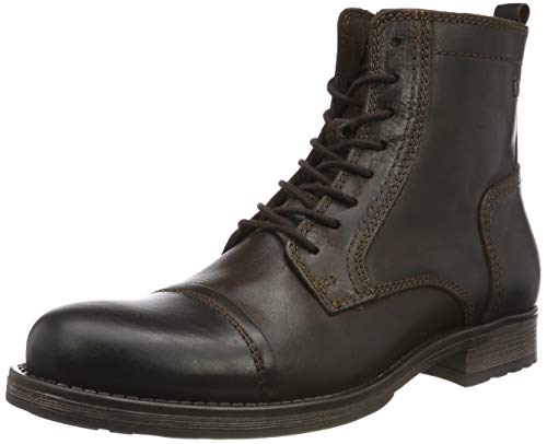 JACK & JONES Herren JFWRUSSEL Leather 19 Stiefelette, Braun (Brown Stone Brown Stone), 42 EU