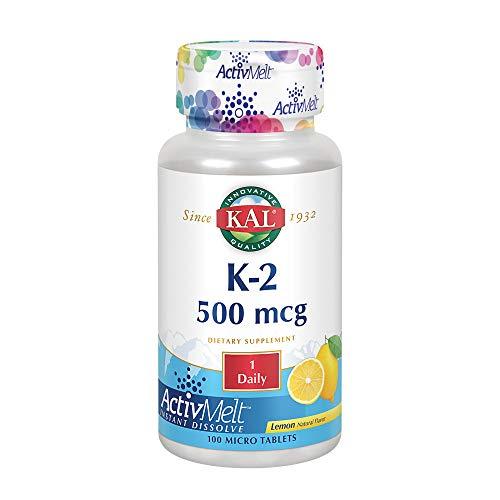 KAL Vitamin K2 500 mcg | ActivMelt | 100 Tablets