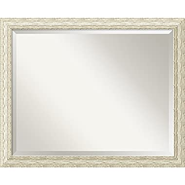 Bathroom Mirror Large, Cape Cod White Wash: Outer Size 32 x 26