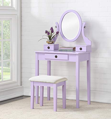 Wood Moniya Makeup Vanity Set