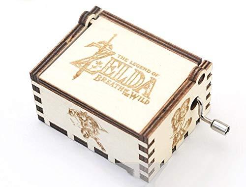 WooMax Spieluhr aus Holz mit der Legende von Zelda mit Handkurbel, Antik-Schnitzerei, Geburtstag, Weihnachten