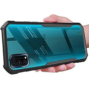 Mobistyle Shockproof Bumper Transparent All Side Protection Cover Case for Samsung M31S (Black)