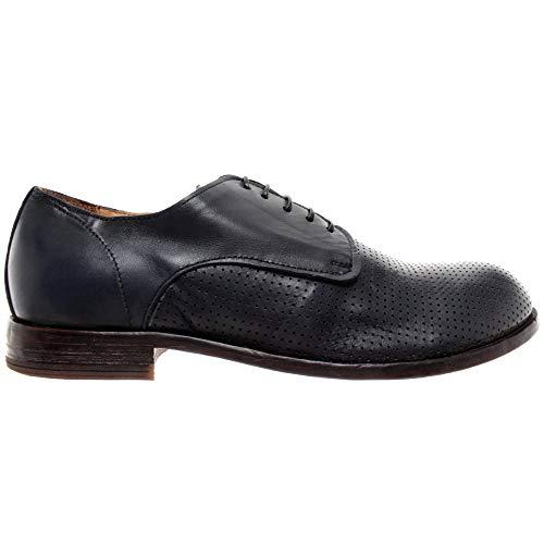MOMA Herren Schuhe Business 12806-Y3 Leder Dunkelblau Neue