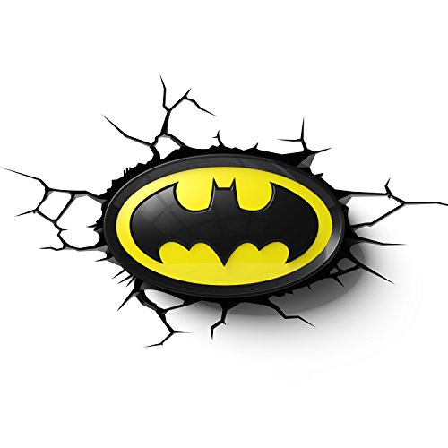 DC Comics 3DLIGHTFX - Lámpara 3D Batman Logo en 3D