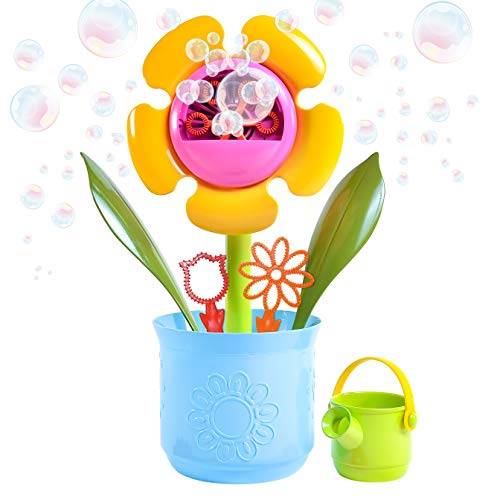Sunny Days Entertainment Bubbling Flower Pot Toy with Bonus Bubble Solution - Maxx Bubbles (320325)