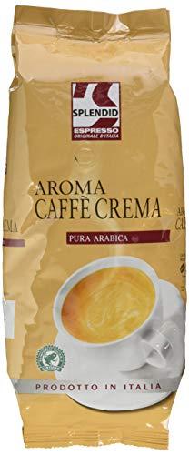 Splendid Espresso Originale d'Italia Caffè Crema, 1kg Bohnenkaffee, ganze Bohne, feine Crema und ausgewogener Geschmack