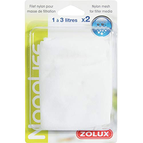 Zolux Set de 2 Filets en Nylon Masse de Filtration 1-3 L