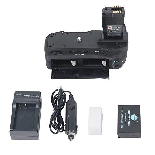 DSTE Multi-Poder Vertical Batería Apretón Titular Compatible con Canon EOS 760D 750D IX8 T6S T61 DSLR Cámara Fotográfica como BG-E18 con LP-E17 Batería Cargador