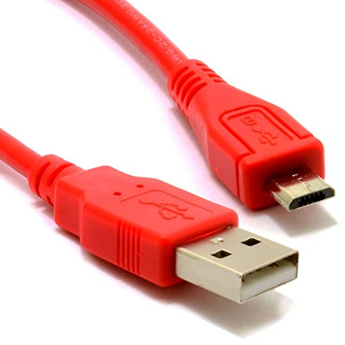 GIGAFOX USB Sync-Kabel, Ladekabel, Datenkabel (Micro-USB) 1m, rot - für Garmin nüvi 2360LT Navigationssystem - für Schnelles Laden