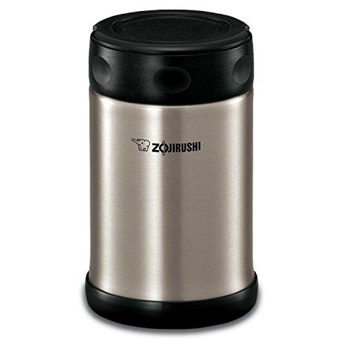 Zojirushi Steel Food Jar, 16.9-Ounce, Black/Stainless