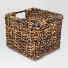 Wicker Small Milk Crate Dark Brown - Threshold™ : Target
