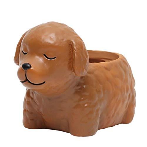 AOM Cartoon Honden Mooie Bloem Vaas Puppy Hars Planter voor Vetplanten Corgi Mini Bloemenpot Desktop Pot Home Office Bonsai Nieuw,als show