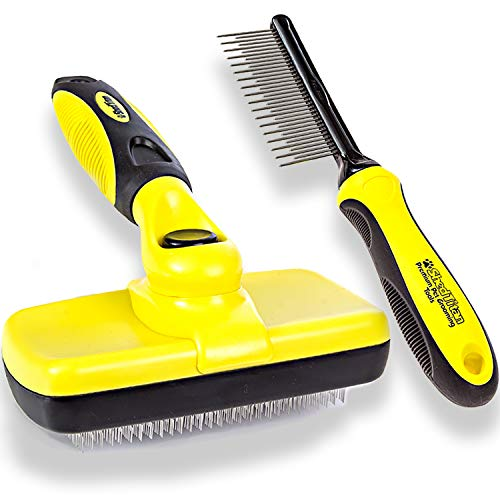 ShedTitan Self Cleaning Slicker Brush & Dematting...
