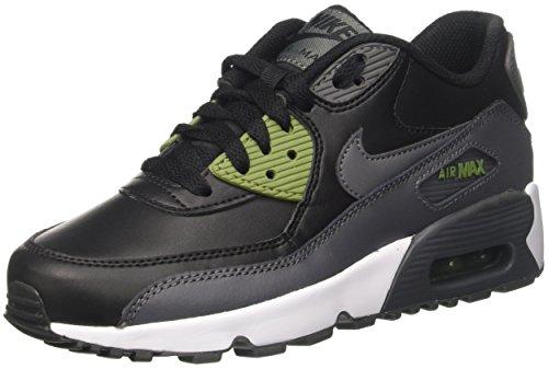 Nike Unisex-Kinder Air Max 90 Ltr Gs Sneakers, Schwarz (Black/Dark Grey/Palm Green/WHI), 38.5 EU