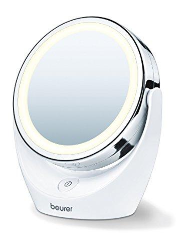 Miroir pour maquillage grossissant double face éclairé Beurer BS 49