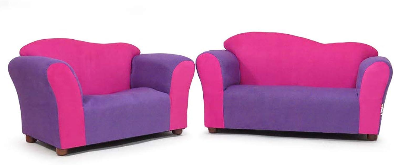 Keet Sofa and Chair Wave Kid's Set, Pink Purple