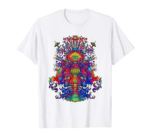 Trippy Hippie Psychedelic Mushroom Psilocybin - T-Shirt