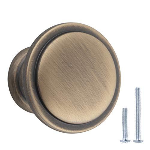 AmazonBasics – AB1100-AB-25 Möbelknäufe, 25er-Pack, Messingoptik antik
