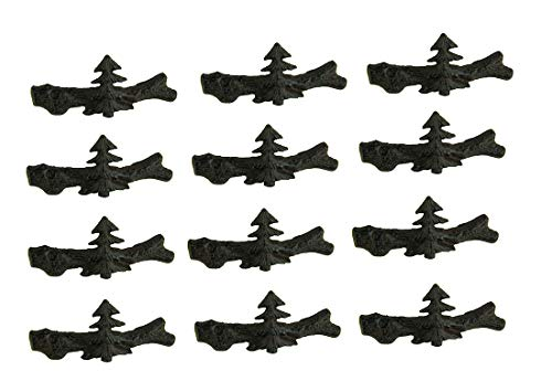 DeLeon Collections Set of 12 Cast Iron Pine Tree Drawer Pulls