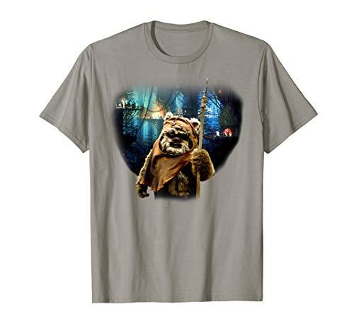 Star Wars Tree Village Wicket Ewok Graphic T-Shirt
