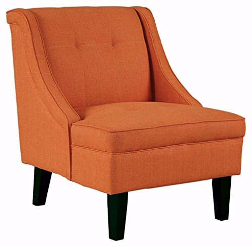Ashley Furniture Signature Design -Clarinda Accent Chair - Wingback - Modern - Orange