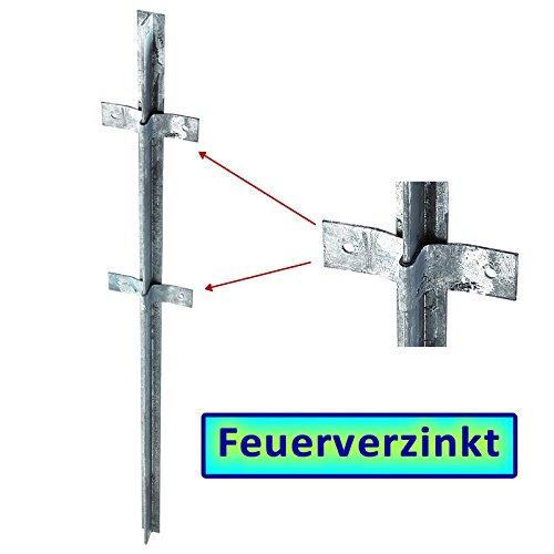 BAUER - FVZ T-Zaunpfosten 1000x40x40x5mm