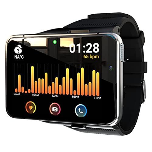 ZBY 4G WiFi Smart Watch Men Dual Cámara Video Llamadas Llamadas Android Monitor De Ritmo Cardíaco 4G + 64G Juego Smartwatch,A