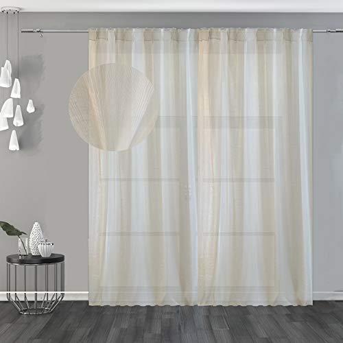 Degradé Tenda Semi-filtrante Bicolor, Molto Elegante e dall'ottima fattura per Dare Un Tocco Moderno e Urban Style alla casa e Riscaldare l'ambiente (Corda 150x280cm (59x110in))