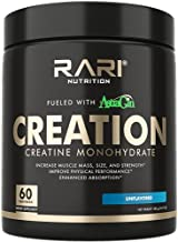 RARI Nutrition Creatine Monohydrate Powder, Unflavored, Superior Formula, 25mg Astragin & 5000mg Pure Micronized Creatine Per Serving