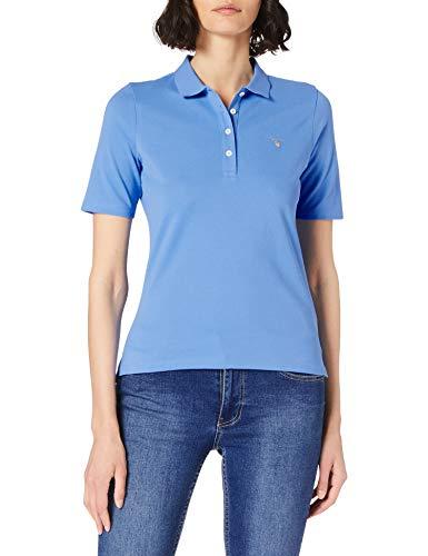 GANT Damen ORIGINAL LSS Pique Polohemd, Pacific Blue, M