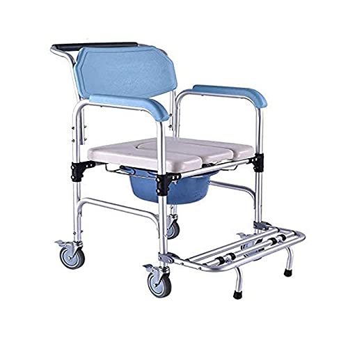 ZOUSHUAIDEDIAN Silla de inicio, silla de ducha, silla de ducha de baño de múltiples funciones de baño asiento trasero asiento asiento de la cama de la cama con ruedas traseras y rostro trasero, para a