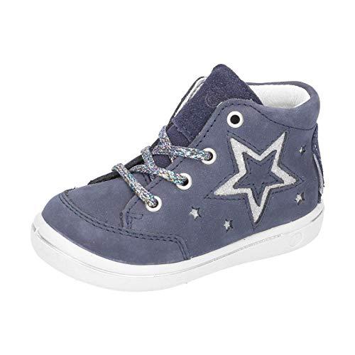 RICOSTA Kinder Lauflern Schuhe SINJA von Pepino, Weite: Schmal (WMS),wasserfest, schnürschuh schnürstiefelchen flexibel,Nautic,22 EU / 5.5 Child UK
